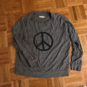 Nation peace sign raglan shirt